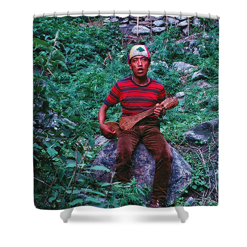 Lama Hotel Shower Curtain featuring the photograph Lama Hotel by Omar Shafey