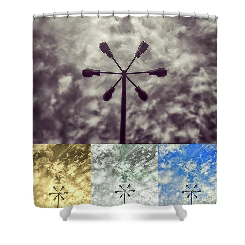 Lamp Shower Curtain featuring the photograph Lamp Abstract by Mariusz Sprawnik