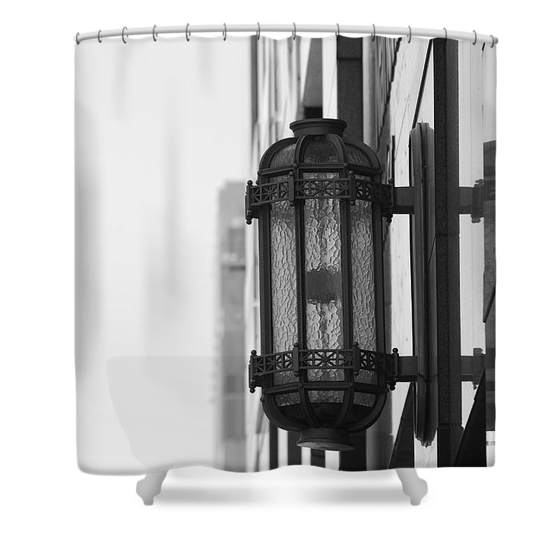 Architecture Shower Curtain featuring the photograph Lamp On The Wall by Rob Hans