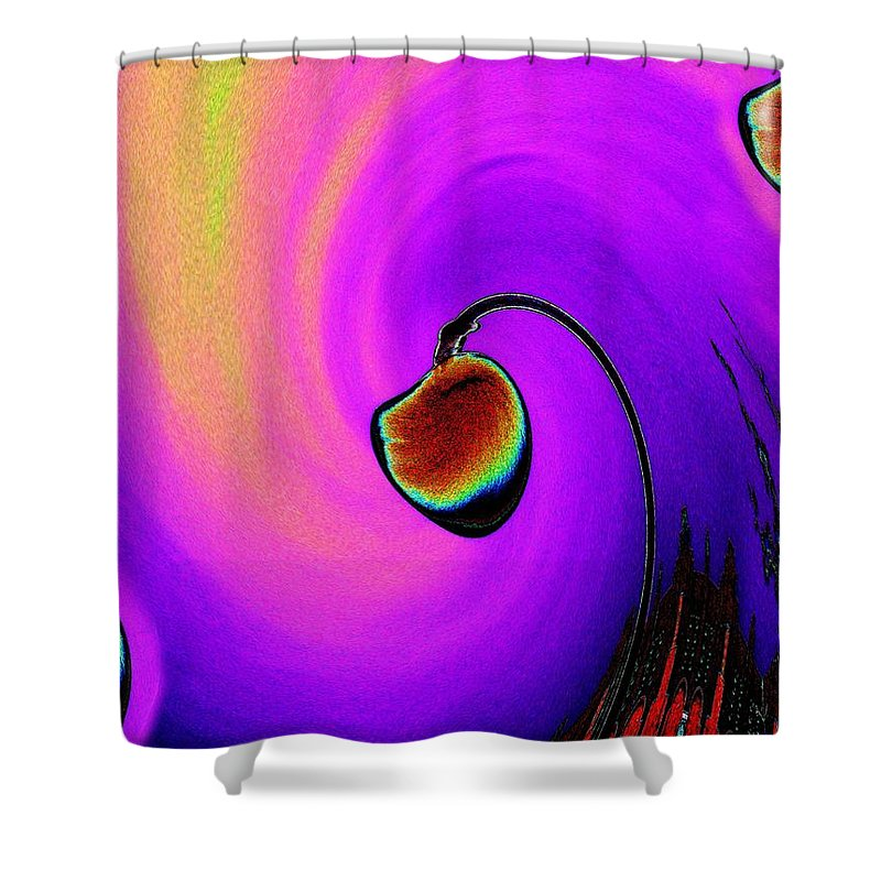 Lamp Shower Curtain featuring the photograph Lamp by Tim Allen