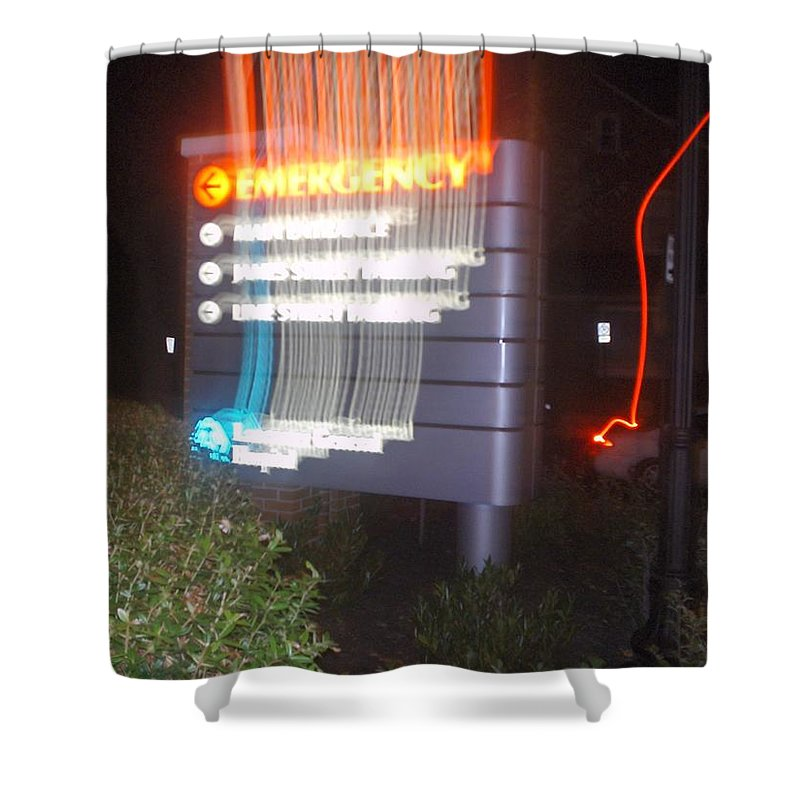 Photograph Shower Curtain featuring the photograph Lancaster Genral Emergency Room by Thomas Valentine