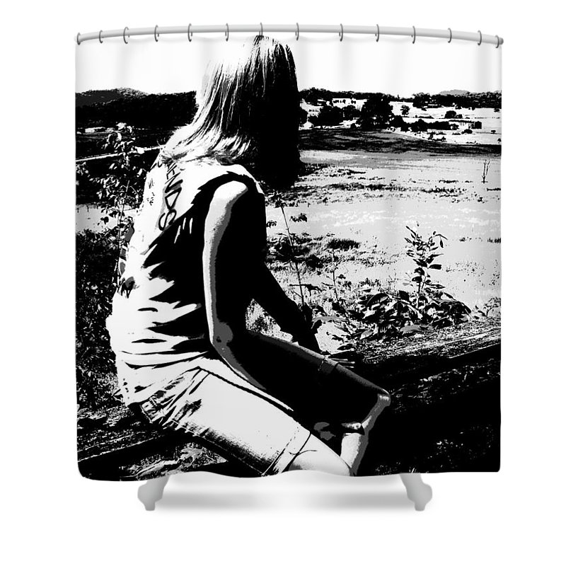 Land Down Under Shower Curtain featuring the photograph Land Down Under by Edward Smith