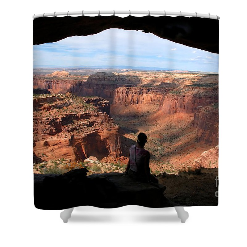 Canyon Lands National Park Utah Shower Curtain featuring the photograph Land Of Canyons by David Lee Thompson