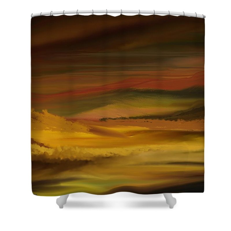 Fine Art Shower Curtain featuring the digital art Landscape 022111 by David Lane