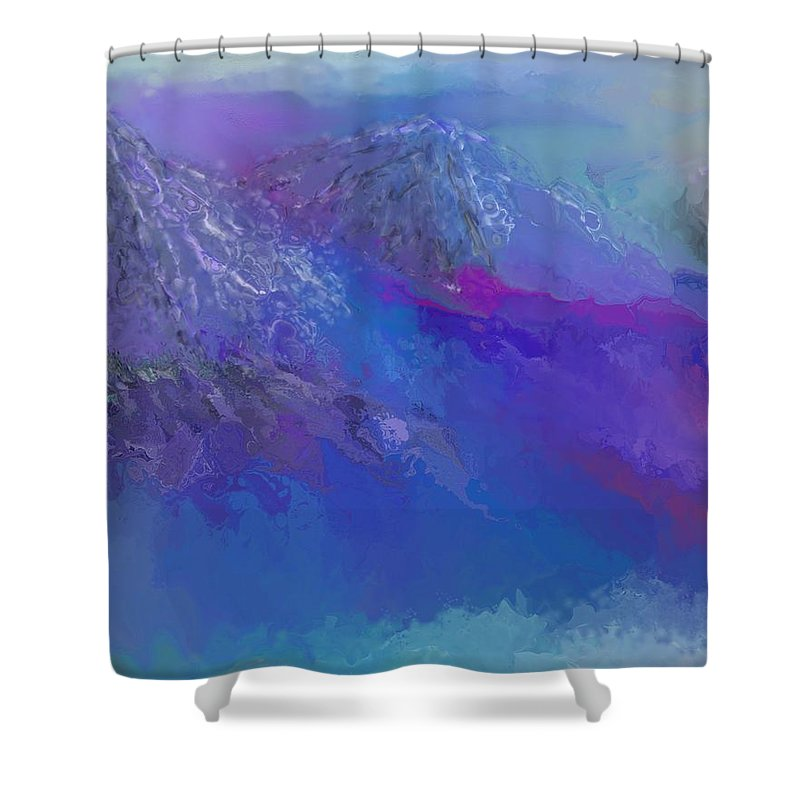 Landscape Shower Curtain featuring the digital art Landscape 030411 by David Lane