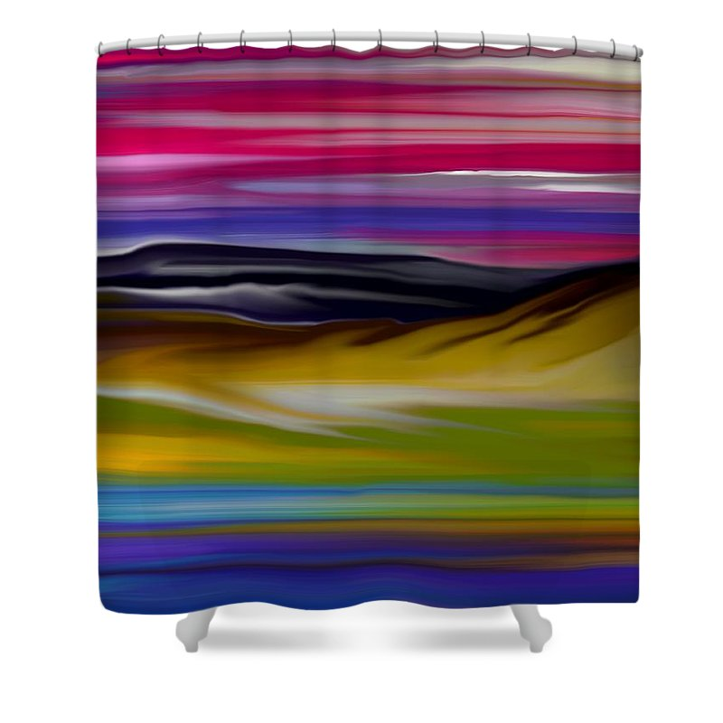 Digital Fantasy Painting Shower Curtain featuring the digital art Landscape 7-11-09 by David Lane