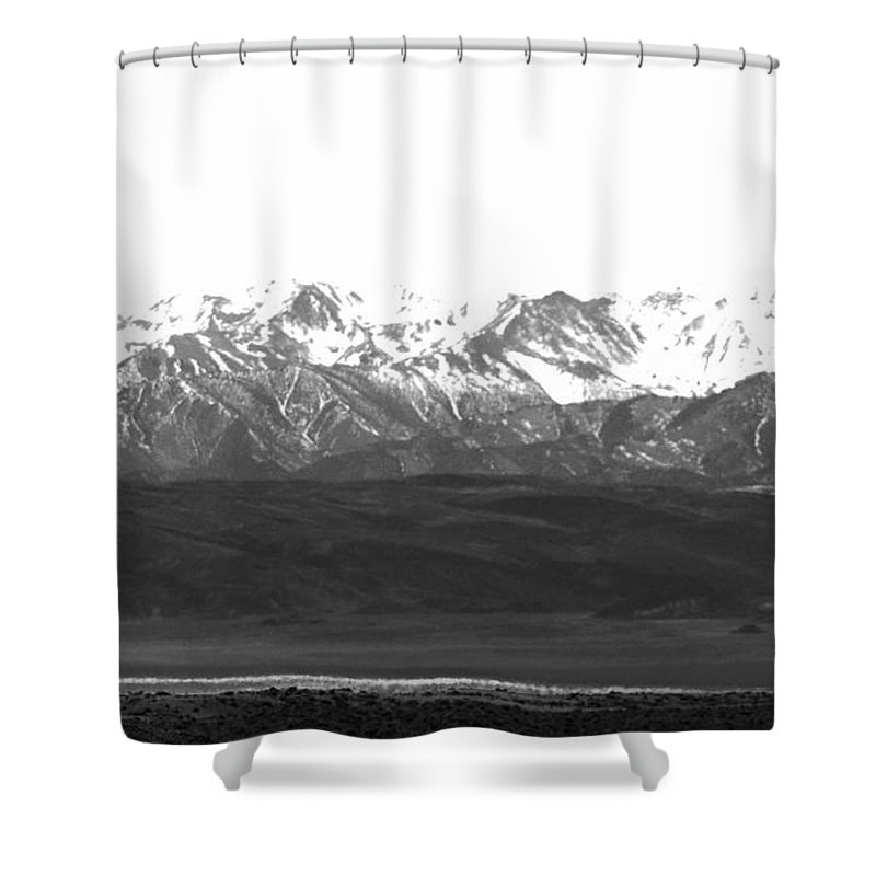 Snow Shower Curtain featuring the photograph Landscape Contrast by Kristen Beck