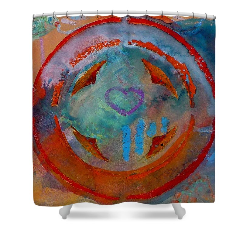 Love Shower Curtain featuring the painting Landscape Seascape by Charles Stuart