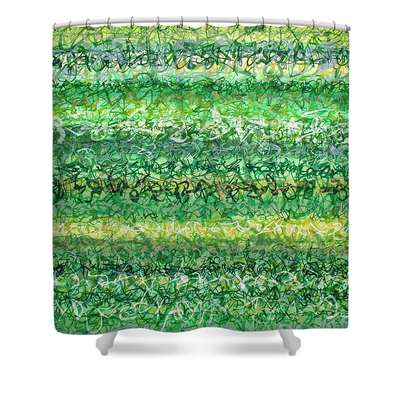 Grass Shower Curtain featuring the painting Language Of Grass by Jason Messinger