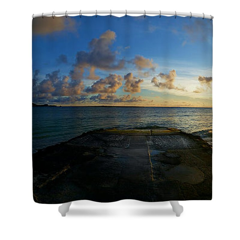 Sunrise Shower Curtain featuring the photograph Lanikai At Sunrise by Lisa Brooks-Naki