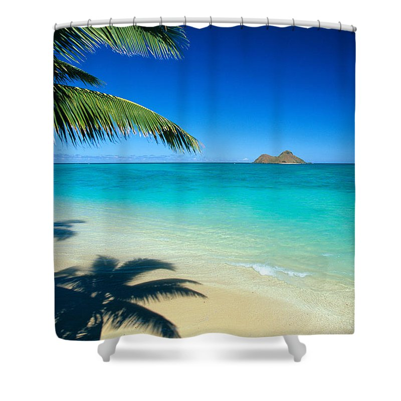 Afternoon Shower Curtain featuring the photograph Lanikai Beach by Dana Edmunds - Printscapes