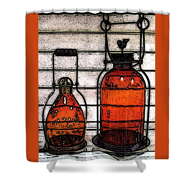 Old Lamp Shower Curtain featuring the photograph Lanterns Still Life by Ben and Raisa Gertsberg
