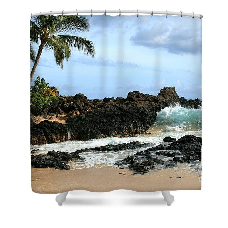 Aloha Shower Curtain featuring the photograph Lapiz Lazuli Stone Aloha Paako Aviaka by Sharon Mau