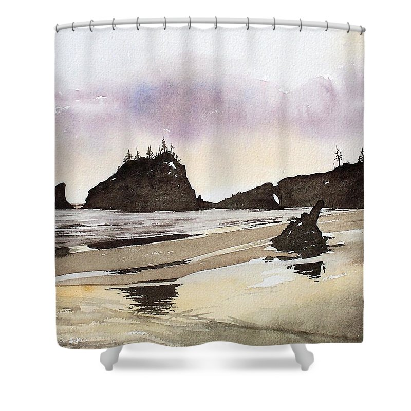 Washington Shower Curtain featuring the painting Lapush by Gale Cochran-Smith
