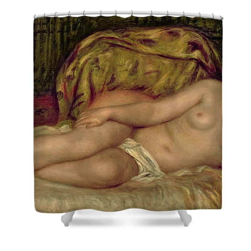 Renoir Shower Curtain featuring the painting Large Nude by Pierre Auguste Renoir