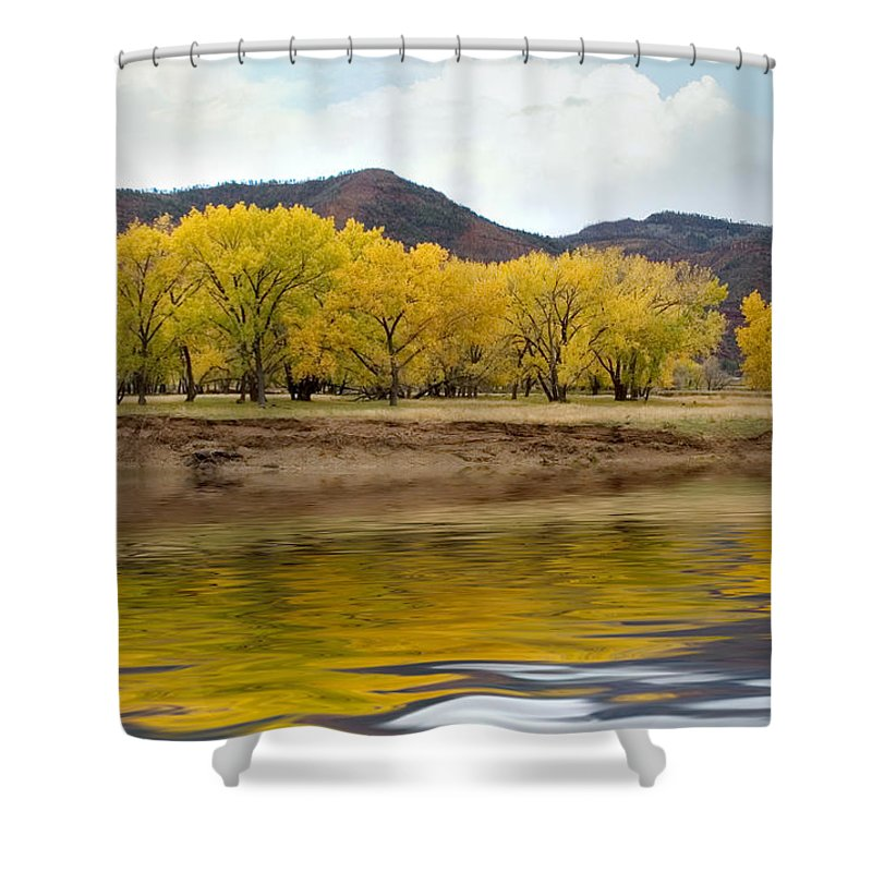 River Shower Curtain featuring the photograph Las Animas Fall by Jerry McElroy