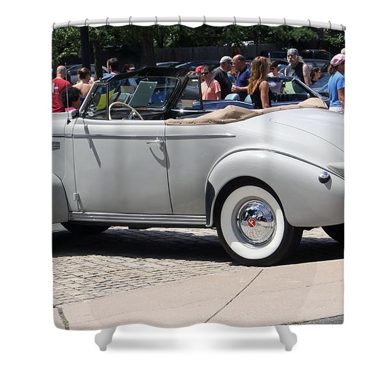 Cars Shower Curtain featuring the photograph Lasalle 1940 2 by Gerald Mitchell