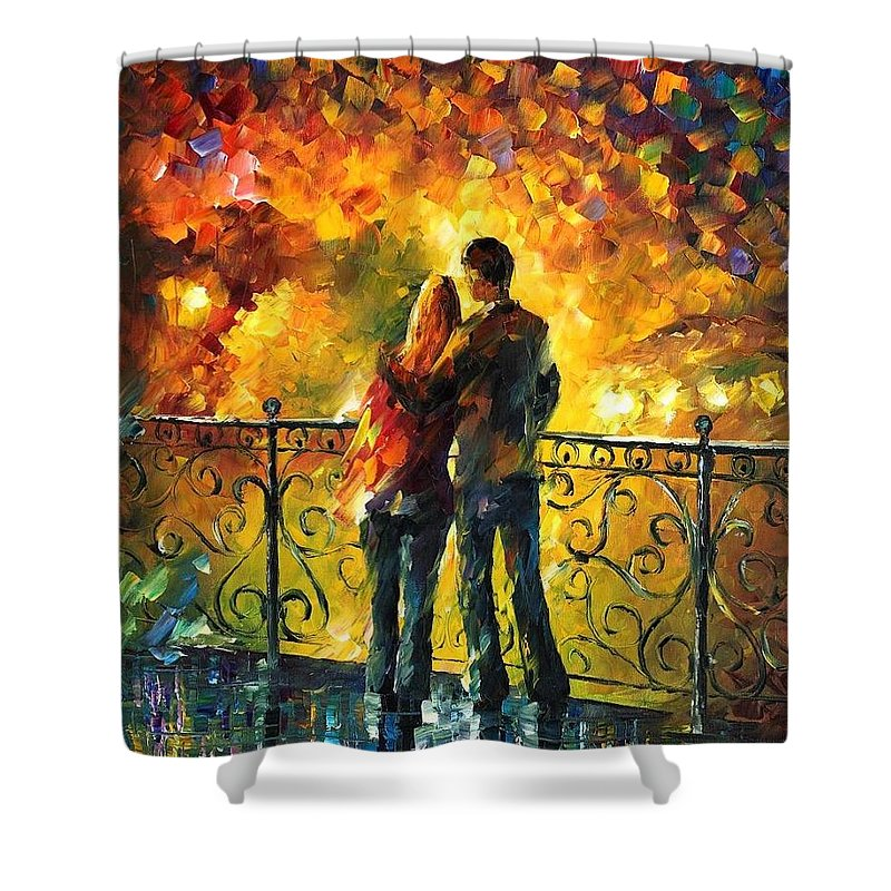 Afremov Shower Curtain featuring the painting Last Date by Leonid Afremov