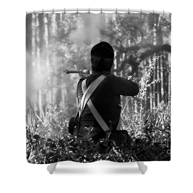 Last Man Standing Shower Curtain featuring the photograph Last Man Standing by David Lee Thompson