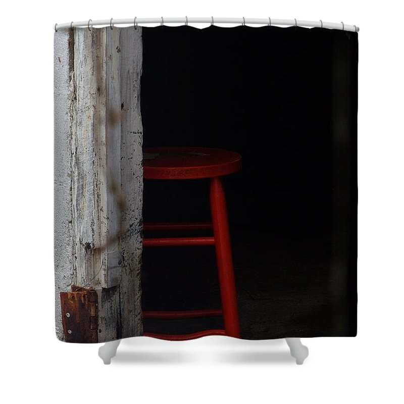 Last Man Standing. Stool Shower Curtain featuring the photograph Last Man Standing by Ed Smith