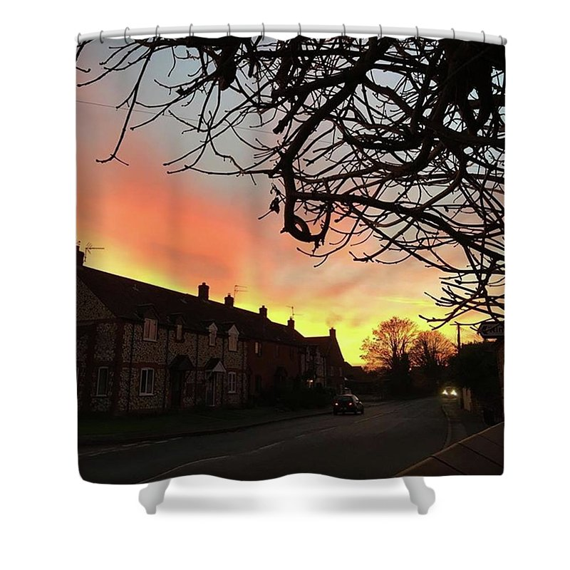 Natureonly Shower Curtain featuring the photograph Last Night's Sunset From Our Cottage by John Edwards