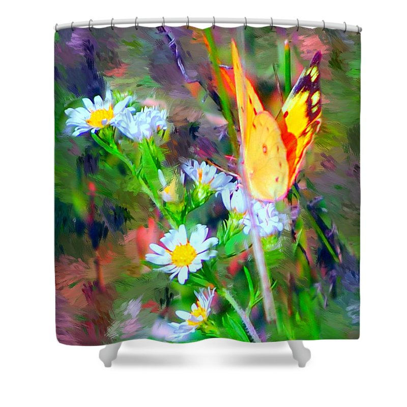 Landscape Shower Curtain featuring the painting Last Of The Season by David Lane