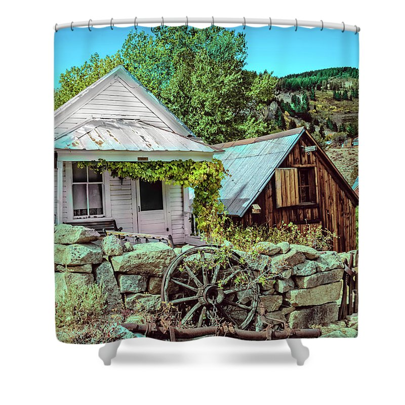 Architecture Shower Curtain featuring the photograph Last Post Office And Ice House by Robert Bales