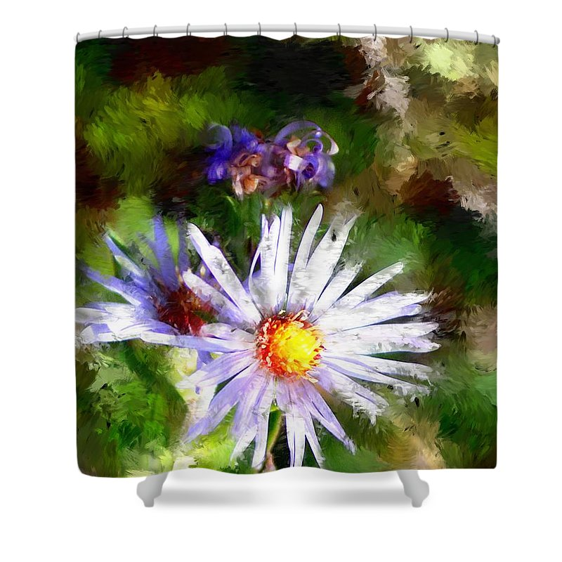Flower Shower Curtain featuring the photograph Last Rose Of Summer by David Lane