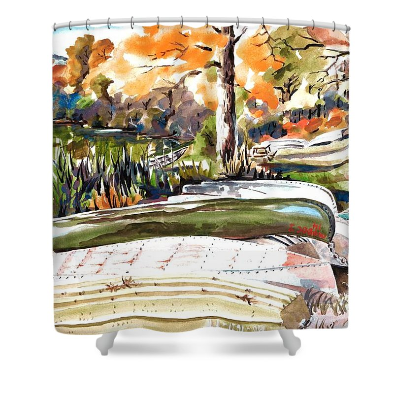 Last Summer In Brigadoon Shower Curtain featuring the painting Last Summer In Brigadoon by Kip DeVore