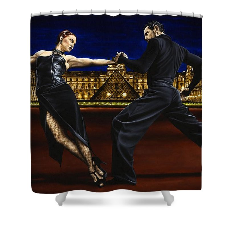 Tango Shower Curtain featuring the painting Last Tango In Paris by Richard Young