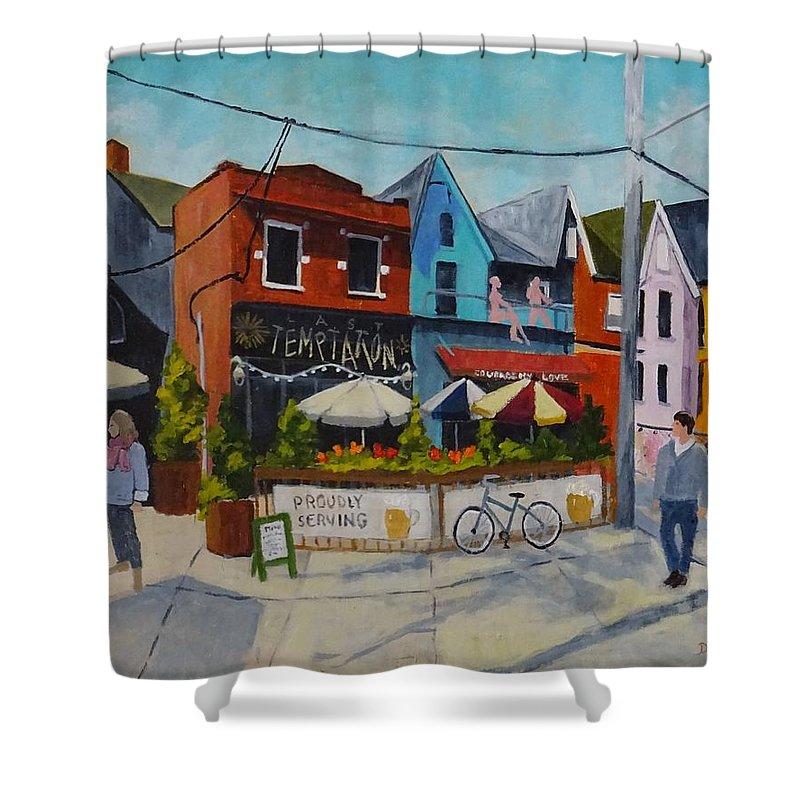 Diane Arlitt Shower Curtain featuring the painting Last Temptation by Diane Arlitt