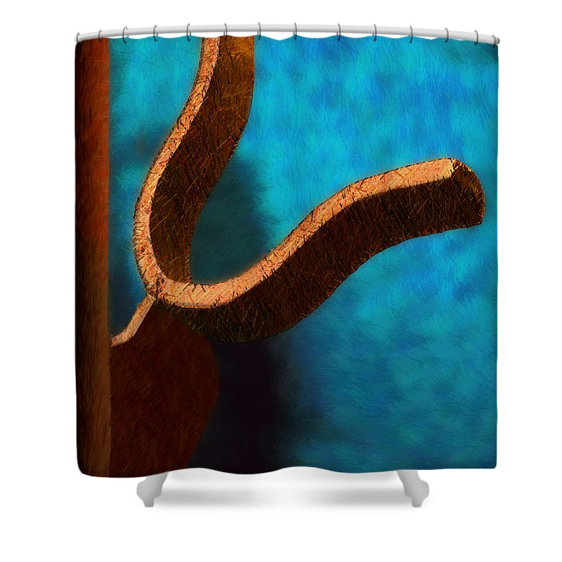 Photography Shower Curtain featuring the photograph Latch by Paul Wear