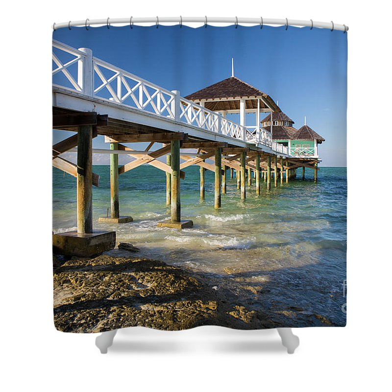 Kamalame Cay Shower Curtain featuring the photograph Late Afternoon At Kamalame Cay by Wendy Gunderson