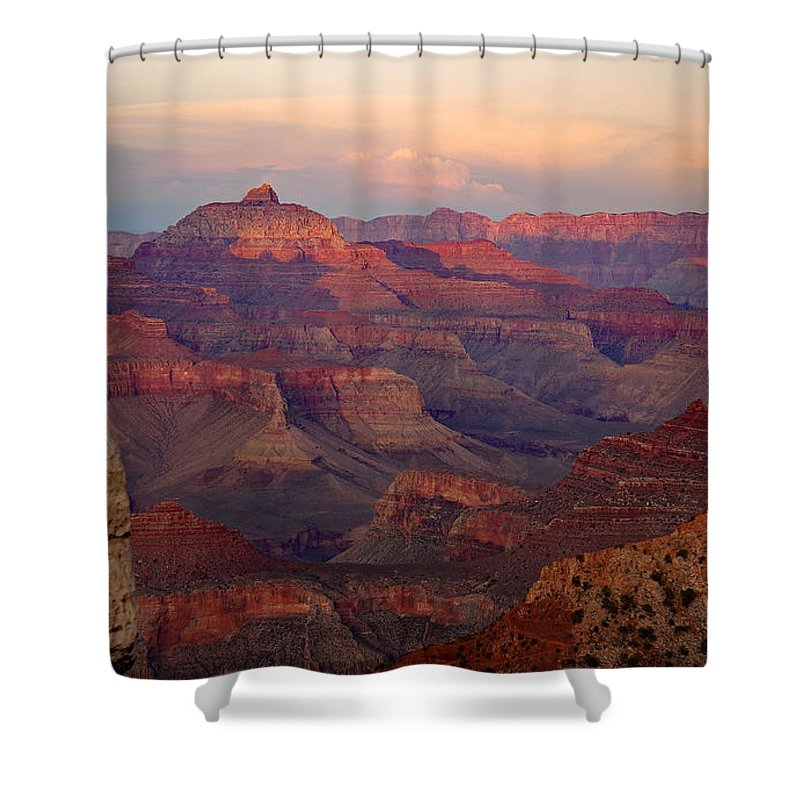 Ann Keisling Shower Curtain featuring the photograph Late Afternoon Grand Canyon by Ann Keisling