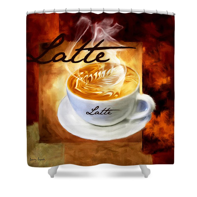 Coffee Shower Curtain featuring the digital art Latte by Lourry Legarde