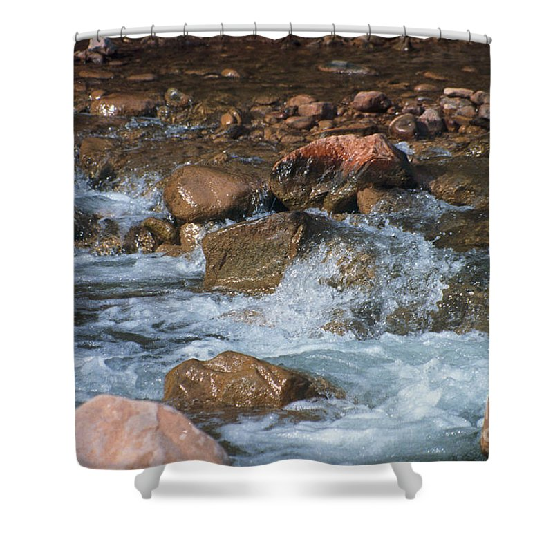 Creek Shower Curtain featuring the photograph Laughing Water by Kathy McClure