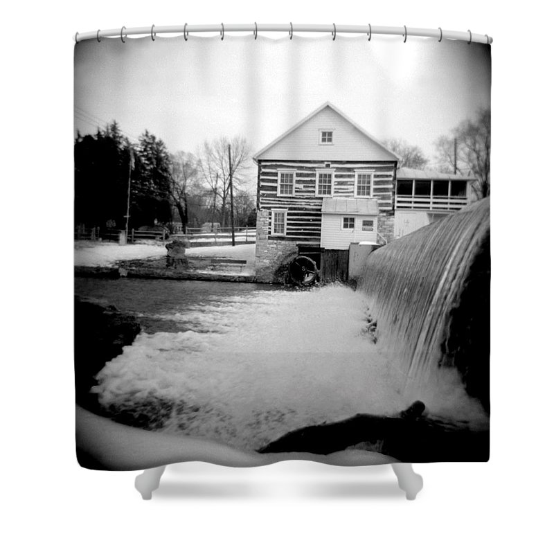 Photograph Shower Curtain featuring the photograph Laughlin Mill by Jean Macaluso