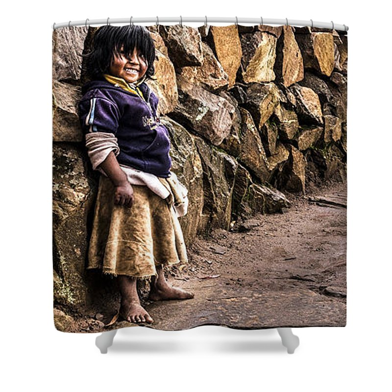 Kid Shower Curtain featuring the photograph Lauhter by Gaston B Duarte
