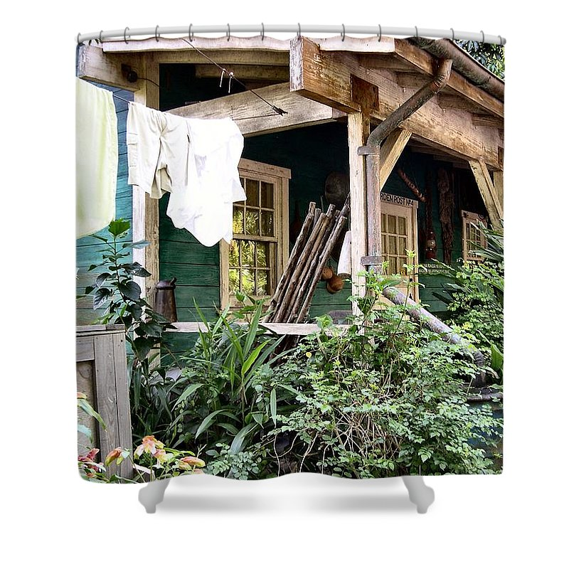 Animal Kingdom Shower Curtain featuring the photograph Laundry Day by Nora Martinez