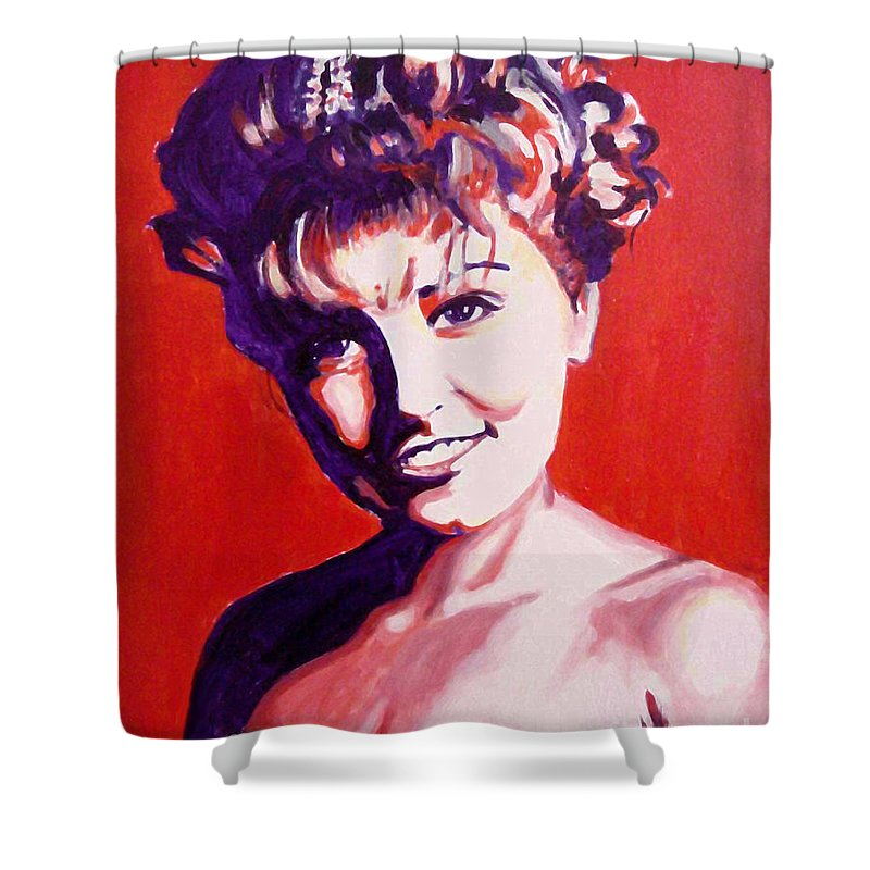 Tags Shower Curtain Featuring The Painting Laura Palmer Twin Peaks By Margaret Juul