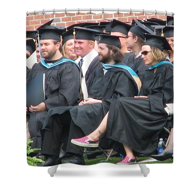 Graduation Shower Curtain featuring the photograph Laura's Graduation by Kelly Mezzapelle