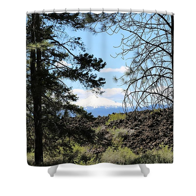 Lava Shower Curtain featuring the photograph Lava Mountain by Sandy Henderson