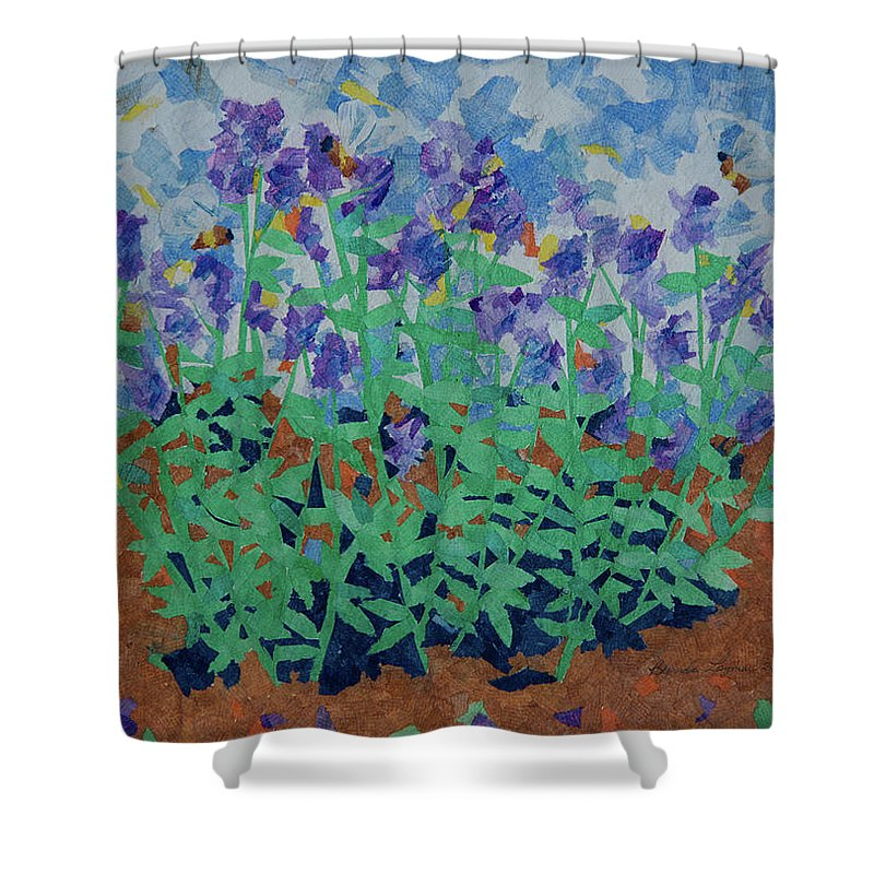 Lavender And Bees Shower Curtain for Sale by Brenda Layman