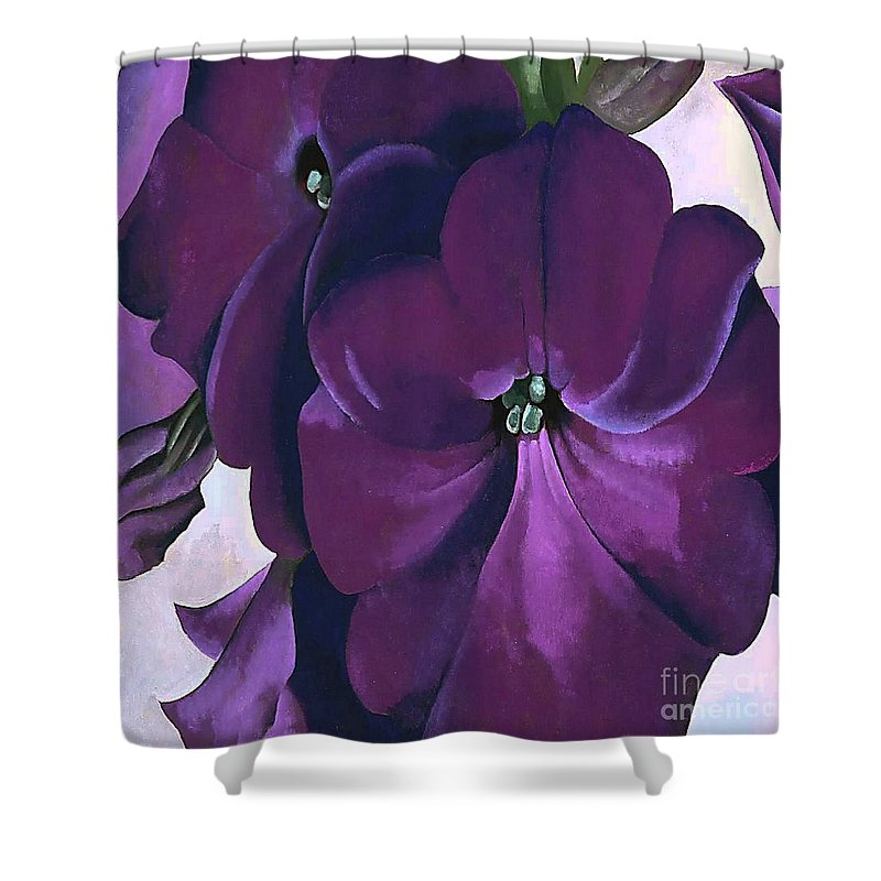 Lavender Petunias By Georgia O\'keeffe Shower Curtain for Sale by ...