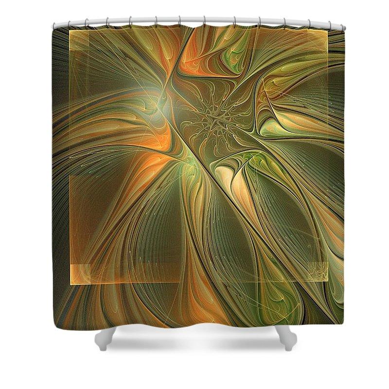 Digital Art Shower Curtain featuring the digital art Layers by Amanda Moore