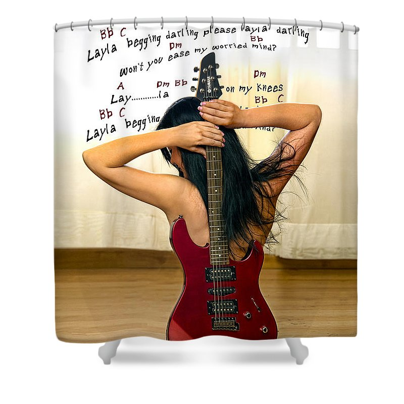 Electric Guitar Shower Curtain featuring the photograph Layla by Donovan Torres
