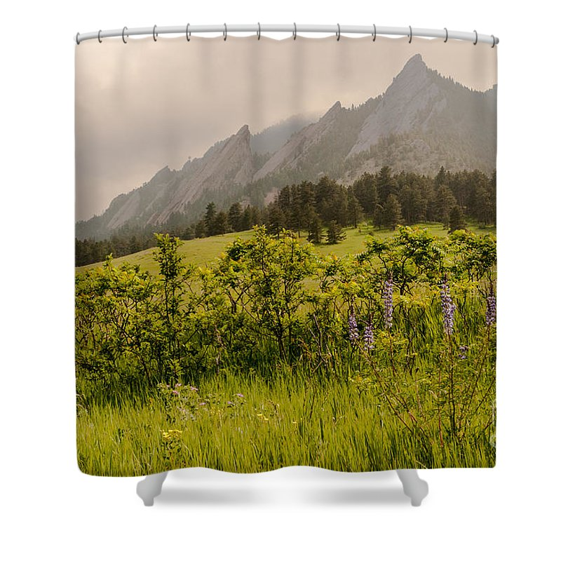 Air Shower Curtain featuring the photograph Lazy Flatrisons Spring by Greg Summers