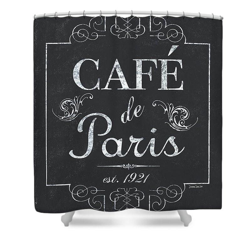 Cafe Shower Curtain featuring the painting Le Petite Bistro 3 by Debbie DeWitt