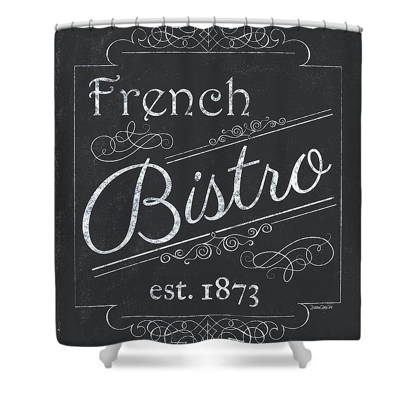 Cafe Shower Curtain featuring the painting Le Petite Bistro 4 by Debbie DeWitt