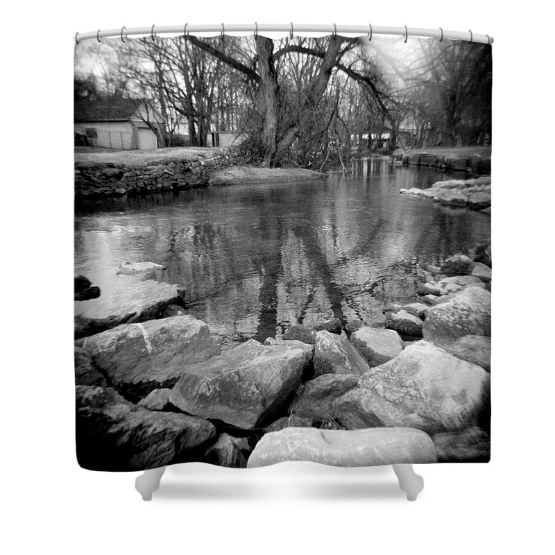 Photograph Shower Curtain featuring the photograph Le Tort Reflection by Jean Macaluso